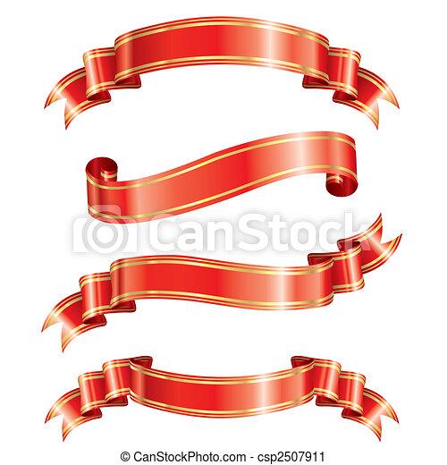 transzparens, finomság, szalag - csp2507911