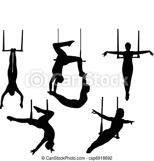 trapeze silhouette vector rh canstockphoto com Mouse On Trapeze trapeze clipart free