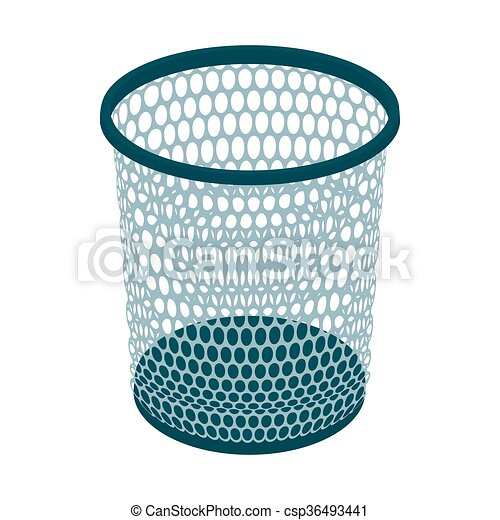 Trash basket icon, cartoon style - csp36493441
