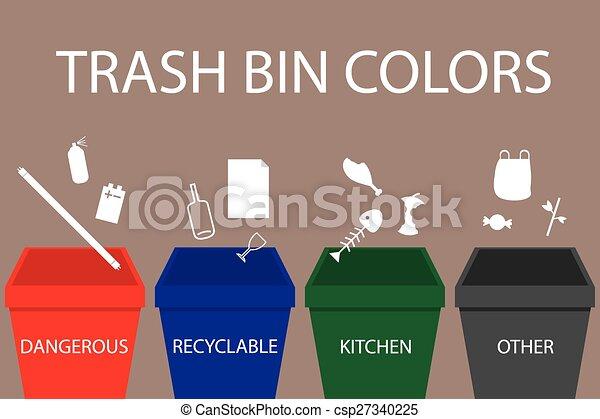 Trash Bin Colors - csp27340225
