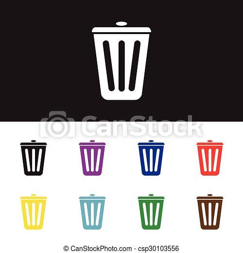 Trash bin icon - csp30103556