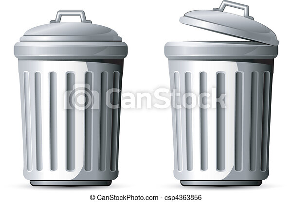 trash can vector illustration over white eps 8 ai jpeg clip art rh canstockphoto com trash can clipart trash can clipart