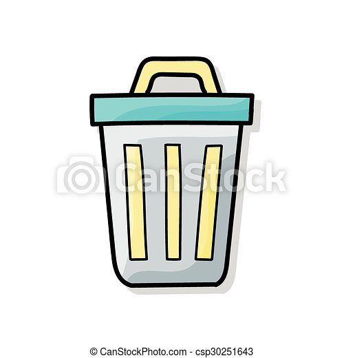 trash can doodle eps vector search clip art illustration rh canstockphoto com trash can clipart black and white trash can blue clipart