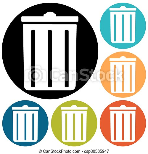 trash can icon - csp30585947
