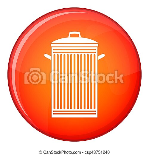 Trash can icon, flat style - csp43751240