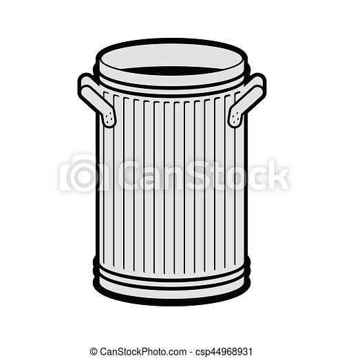 trash can open isolated wheelie bin on white background dumpster iron