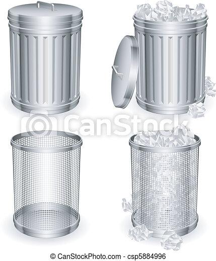 Trash cans. - csp5884996