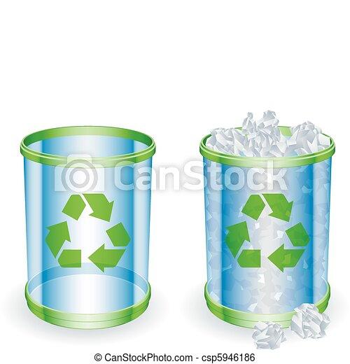Trash cans. - csp5946186