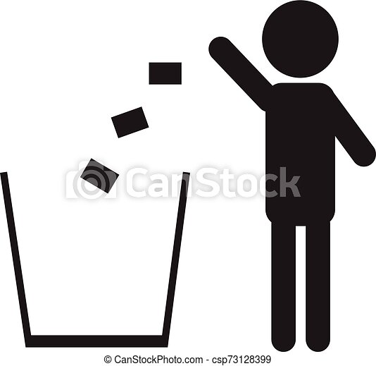 Trash icon isolated on a white background - csp73128399