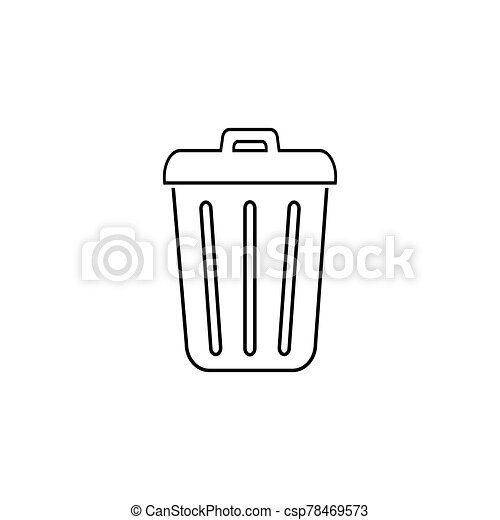 Trash line icon in trendy flat design. Vector modern style - csp78469573