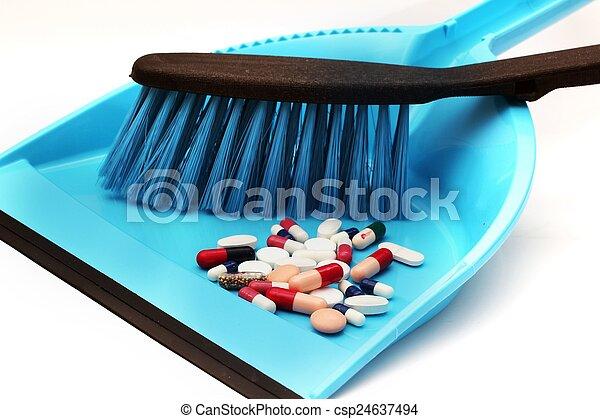 Trash pills - csp24637494