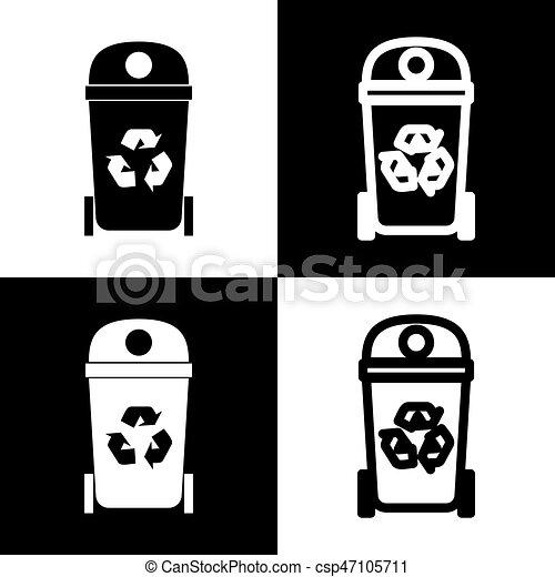 Trash Can Icon Csp30585947