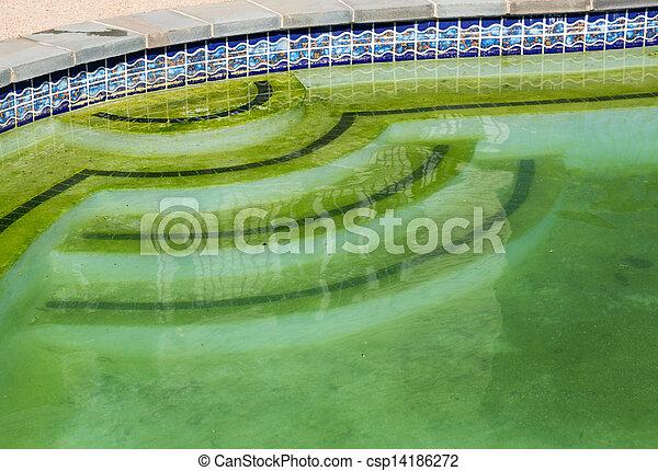 traspatio, sucias, patio, piscina, natación - csp14186272