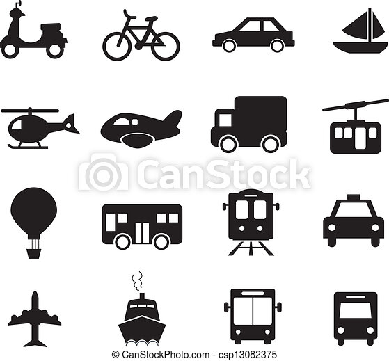 trasporto, icona - csp13082375
