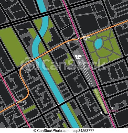 trasporto, mappa, città, piano - csp34253777