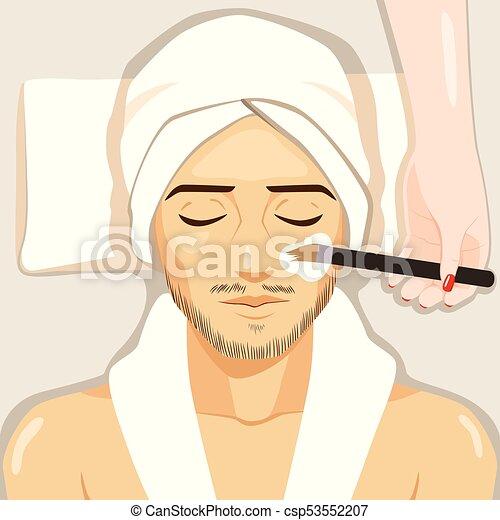 Tratamiento de hombre spa - csp53552207