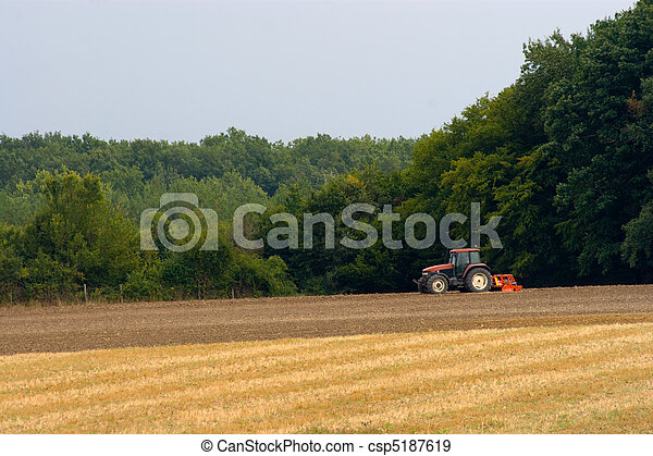 trator, agricultura - csp5187619