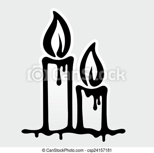 stock illustration von trauer dekorativ kerzen zwei brennender element csp24157181 suche. Black Bedroom Furniture Sets. Home Design Ideas