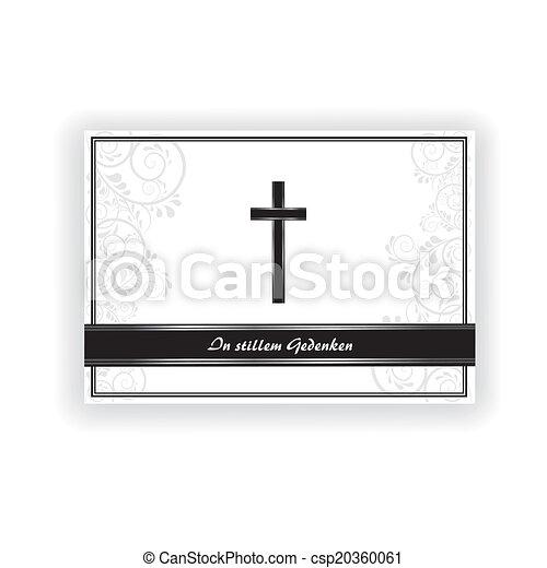 Trauerkarte - csp20360061