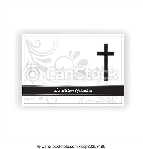 Trauerkarte - csp20359498