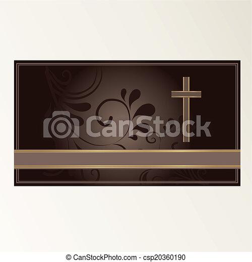 Trauerkarte - csp20360190