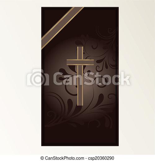 Trauerkarte - csp20360290