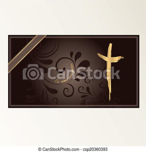 Trauerkarte - csp20360393