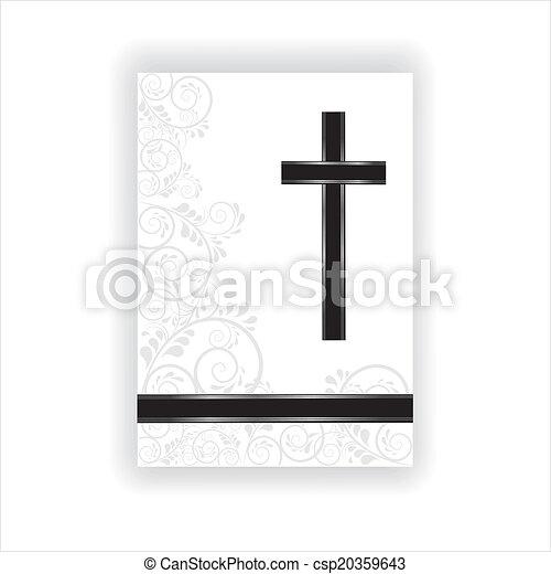 Trauerkarte - csp20359643
