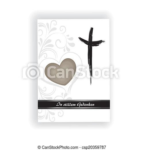 Trauerkarte - csp20359787