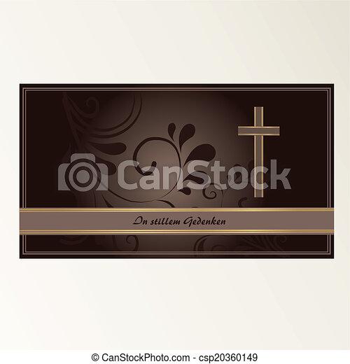 Trauerkarte - csp20360149