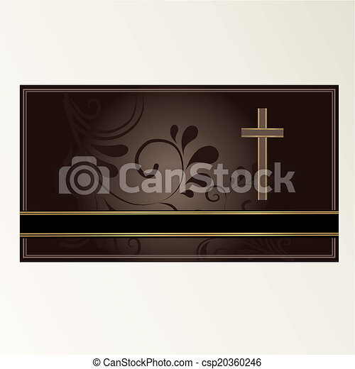Trauerkarte - csp20360246