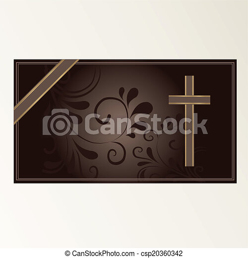 Trauerkarte - csp20360342