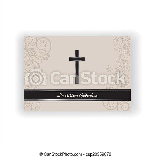 Trauerkarte - csp20359672