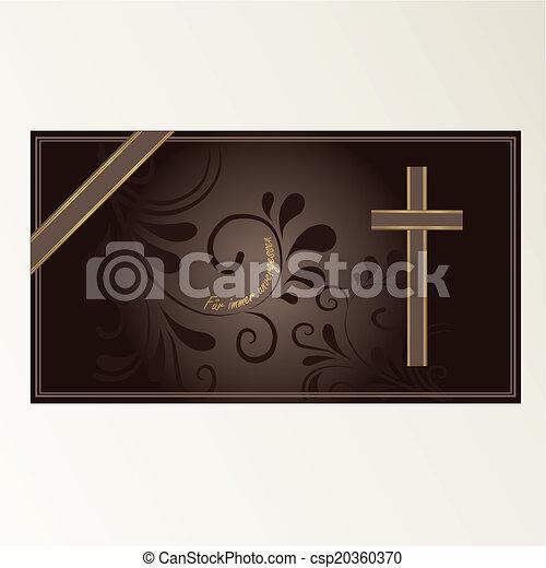 Trauerkarte - csp20360370