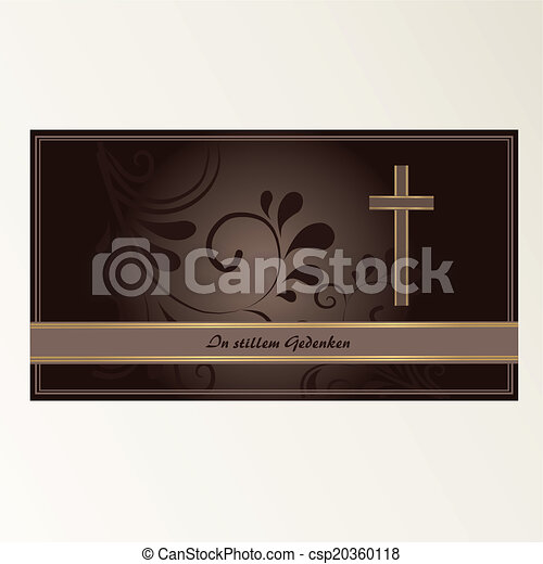 Trauerkarte - csp20360118