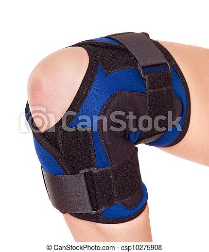 Trauma of knee in brace. - csp10275908