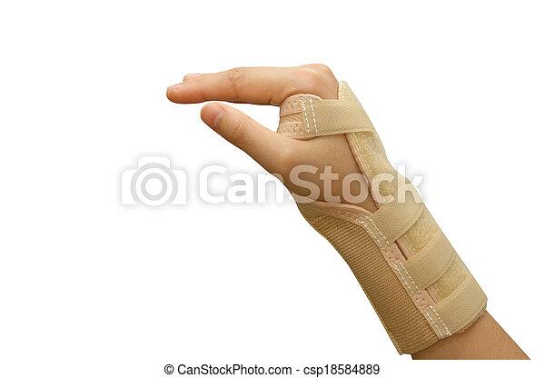 Trauma of wrist with  brace ,wrist support - csp18584889