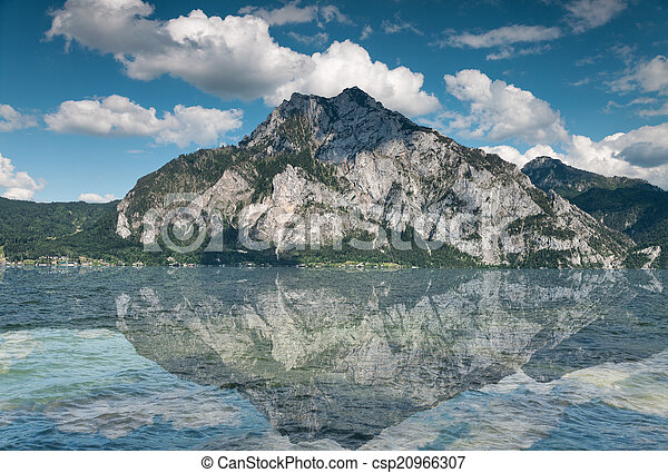 Traunsee lake in Austria - csp20966307