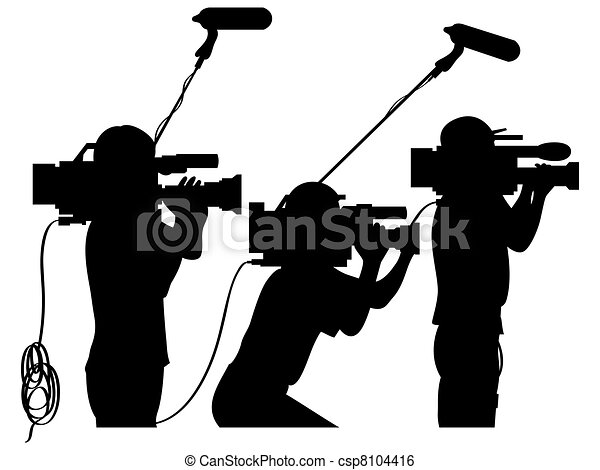 travail, cameramans - csp8104416