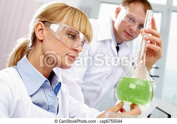 travail, chimiste - csp6755544