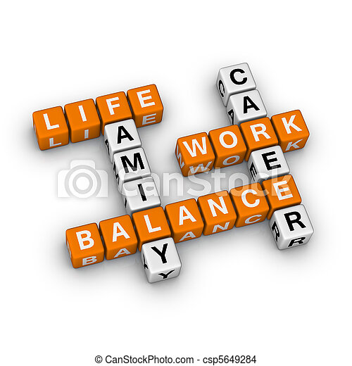 travail, vie, équilibre - csp5649284