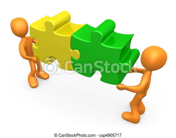 travailler ensemble - csp4905717