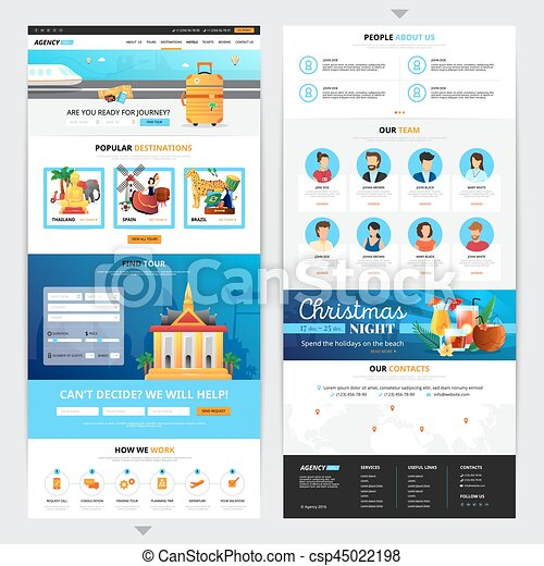 Travel Agency Web Page Design Travel Agency Web Page Design With