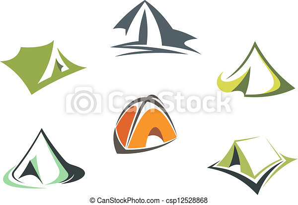 Travel and adventure camp tents - csp12528868