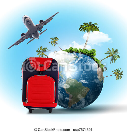 Travel and tourism collage - csp7674591