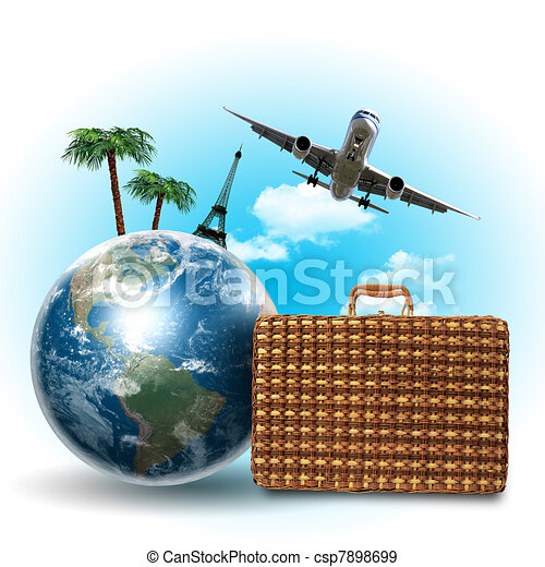 Travel and tourism collage - csp7898699