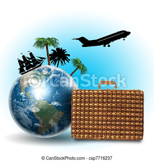 Travel and tourism collage - csp7716237