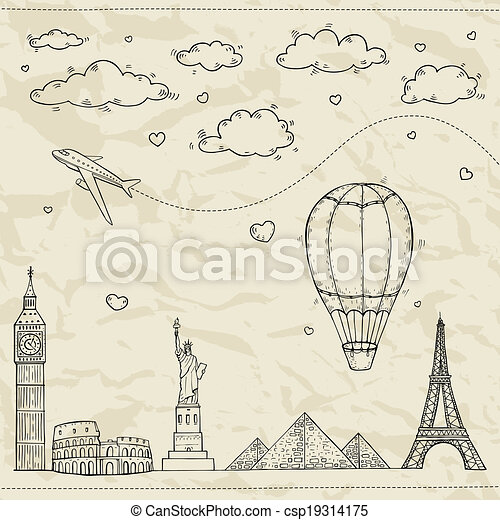 Travel and tourism illustration. - csp19314175
