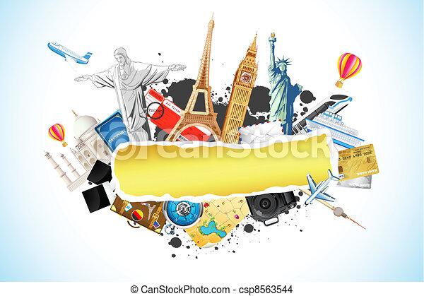 Travel Background - csp8563544