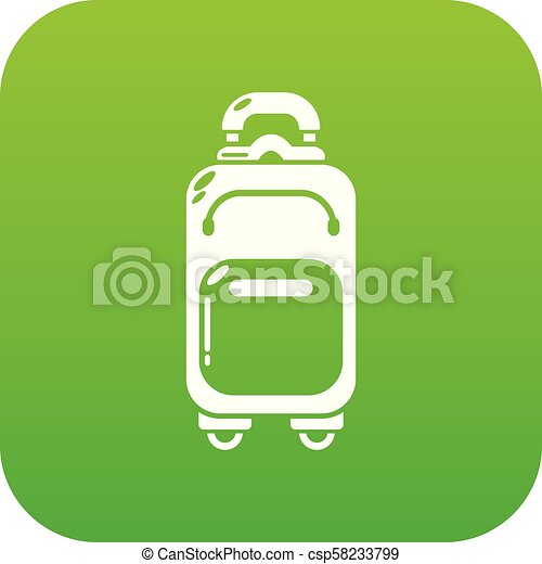 Travel bag concept icon, simple black style - csp58233799